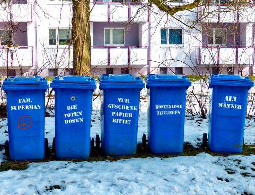 Mülltonnen wetterfest beschriften – natürlich mit unserer Klebefolie!