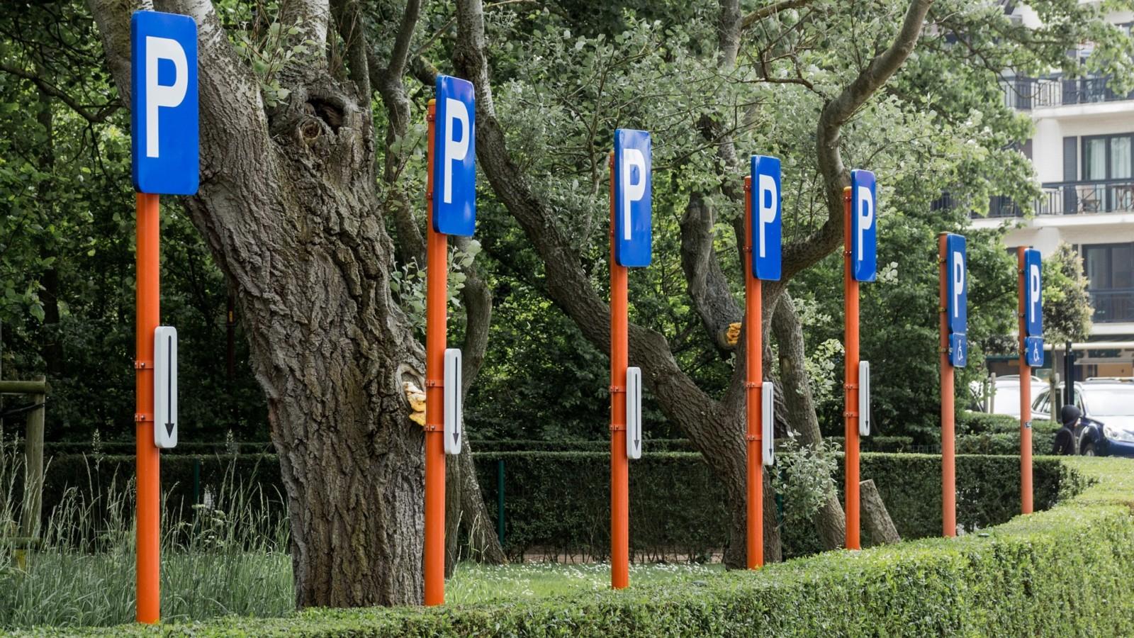 Beschilderung Parkplätze