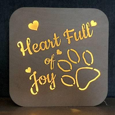 Herz voller Freude