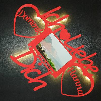 Valentin Geschenk Ich liebe Dich mit Beleuchtung