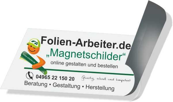 Magnetschilder günstig, schnell und kompetent..Folien-Arbeiter.de