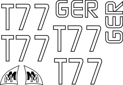MM MicroMagic Segelnummer Set - Kontur