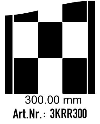 Rennstreifen - Rallystreifen Karomuster - 300 mm breit, je Meter