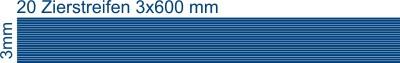 Zierstreifen 3mm
