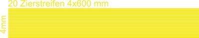 Zierstreifen 4mm