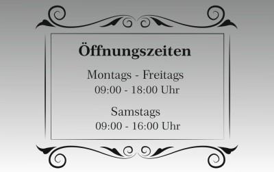 Öffnungszeiten Design-3