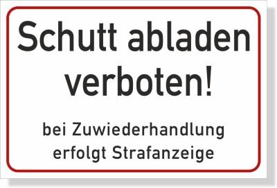 Schutt-abladen-Verboten