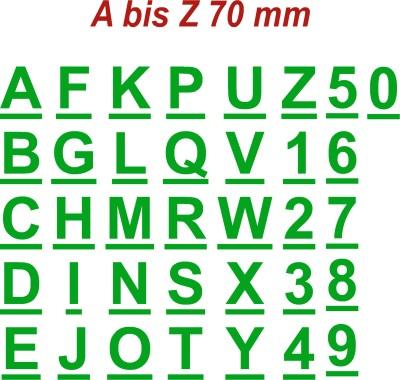 Klebebuchstaben  Alphabet  7cm