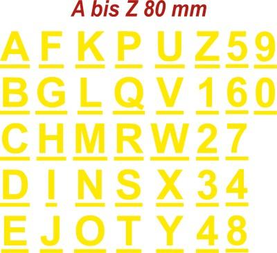 Klebebuchstaben  Alphabet  8cm