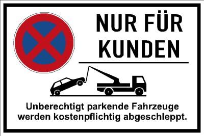 Nur für Kunden Falschparker 002