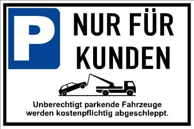Privatparkplatz Nur für Kunden 003