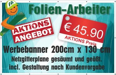 Mesh-Werbebanner  Windurchlässiger Banner 330g