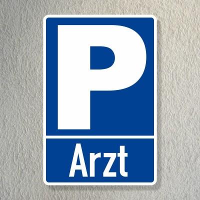 Parkplatzschild Arzt