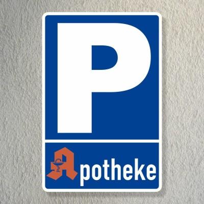 Parkplatzschild Apotheke