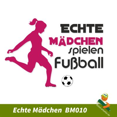 Echte Mädchen spielen Fußball Aufkleber