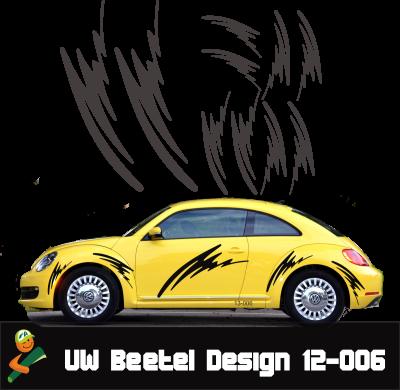 VW BEETEL Aufkleber DESIGN 12-006