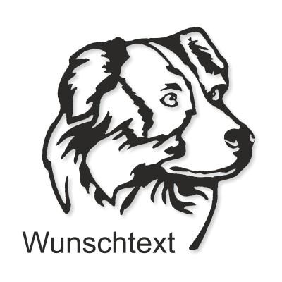 Hunde Sticker Aussi mit Namen