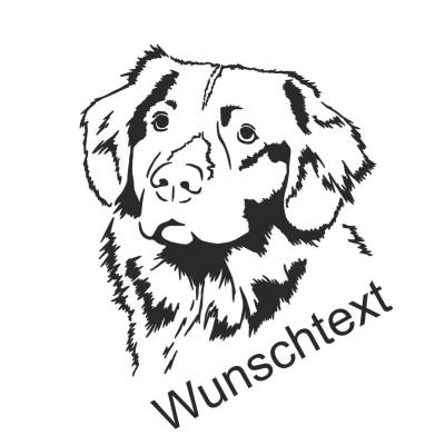 Hunde Sticker Australian Shepherd mit Namen