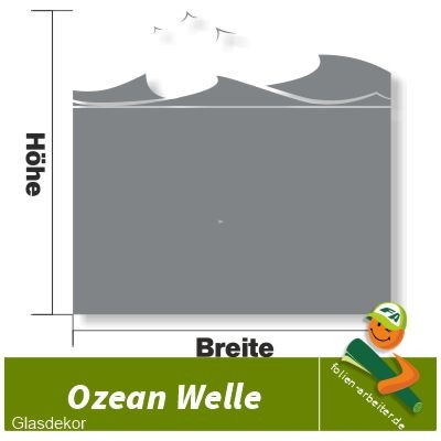 Ozean Welle Glasdekorfolie