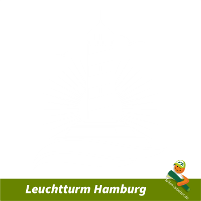 Leuchtturm Hamburg Aufkleber