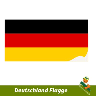 Deutschland Flaggenaufkleber