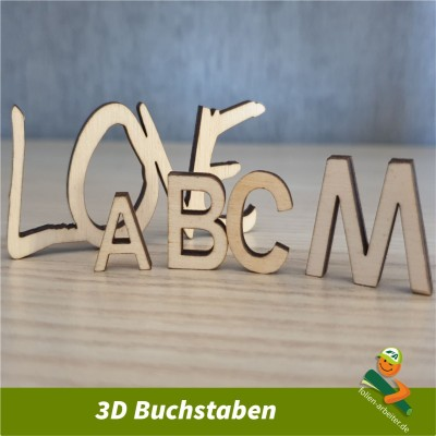 3D-Buchstaben 25 mm