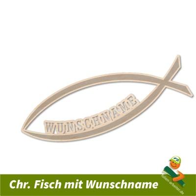 chr. Holzfisch mit Wunschnamen