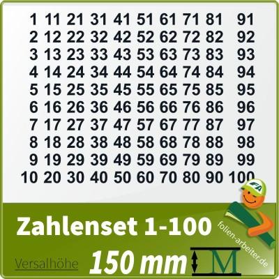 Klebezahlen-Set -1-100 - 150mm