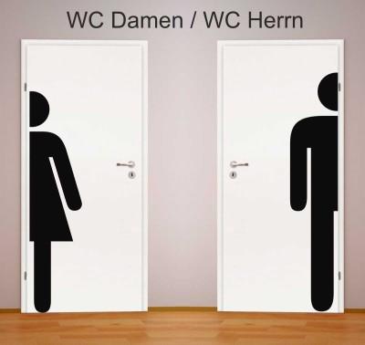 WC-halbes-Piktogramm DAMEN oder HERREN  XXL AUFKLEBER