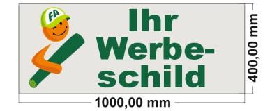 Firmenschild 1000 x 400 mm