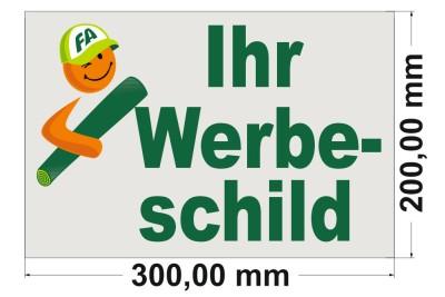 Firmenschild 300x200mm
