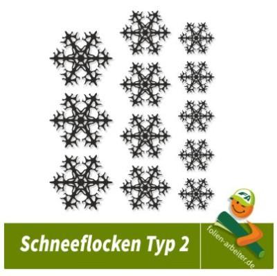 Schneeflocken Snowflakes II Aufkleber Fenster Deko