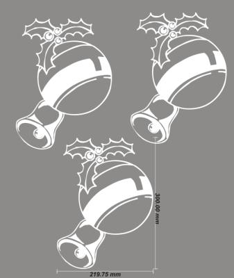 Aufkleber Weihnachtsbaum Schmuck Christkugeln Set Fenster Deko