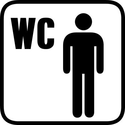Herren WC Aufkleber Piktogramm p004