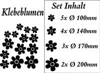 Blumensticker SET II in vielen Farben und Größen