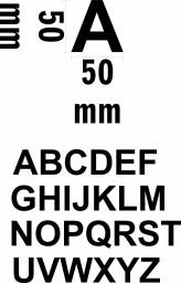 Klebebuchstaben Alphabet  A bis Z  Höhe 5 cm