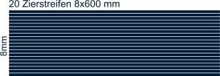 Zierstreifen 8mm