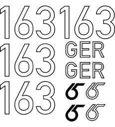 RG 65  Segelnummer Set - Kontur
