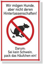 Keine-Hunde-Toilette