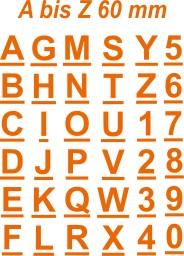 Klebebuchstaben  Alphabet  6cm