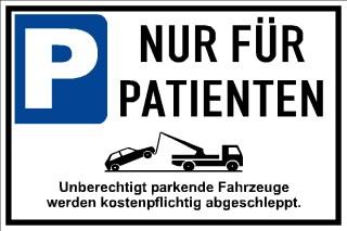 Privatparkplatz Nur für Patienten 006