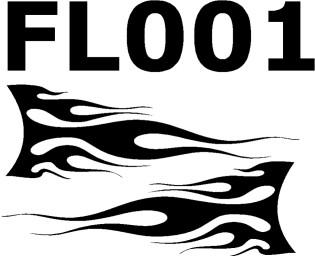 Flammenaufkleber-FL001
