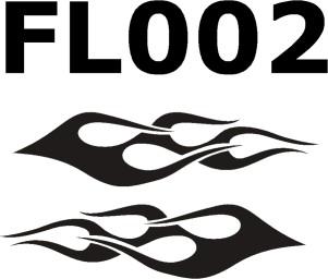 Flammenaufkleber-FL002