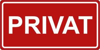 Privat-Türschild-Aufkleber-rotweiß