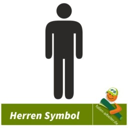 Herrentoilette WC Symbole Mann