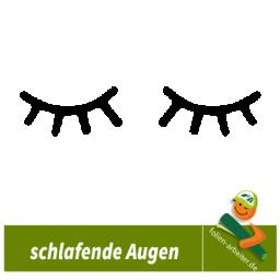Sticker Motiv:Schlafende Augen