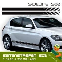 Seitenstreifen Sideline_02 Sportliches Design für dein Auto