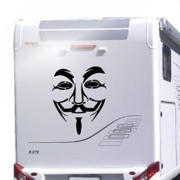 Anonymous unterwegs Aufkleber für Wohnwagen und Wohnmobile