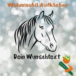 Pferdekopf mit Wunschtext