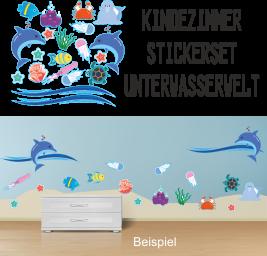Wandsticker Unterwasserwelt 20-Teilig